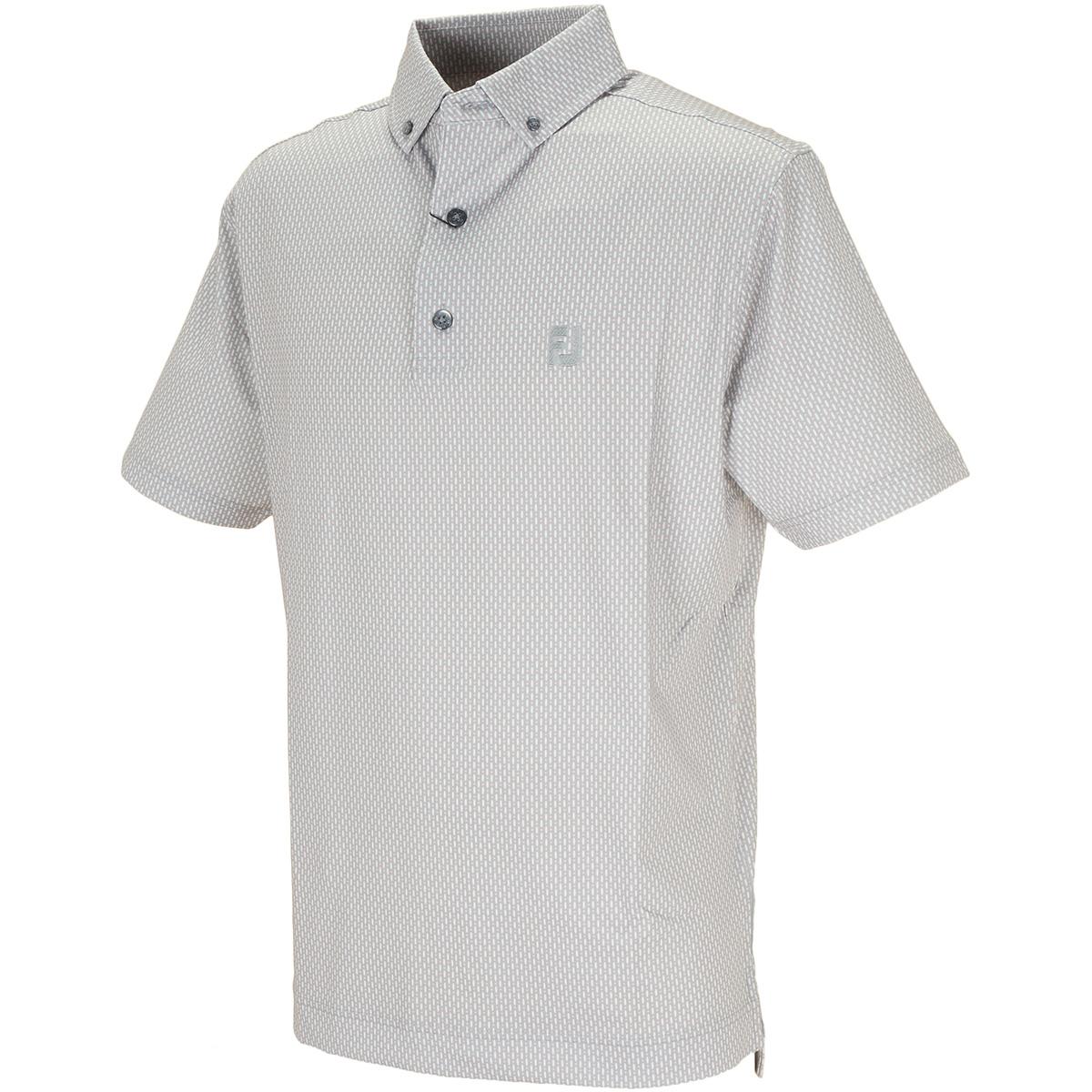 ニートプリント ストレッチ半袖ポロシャツ