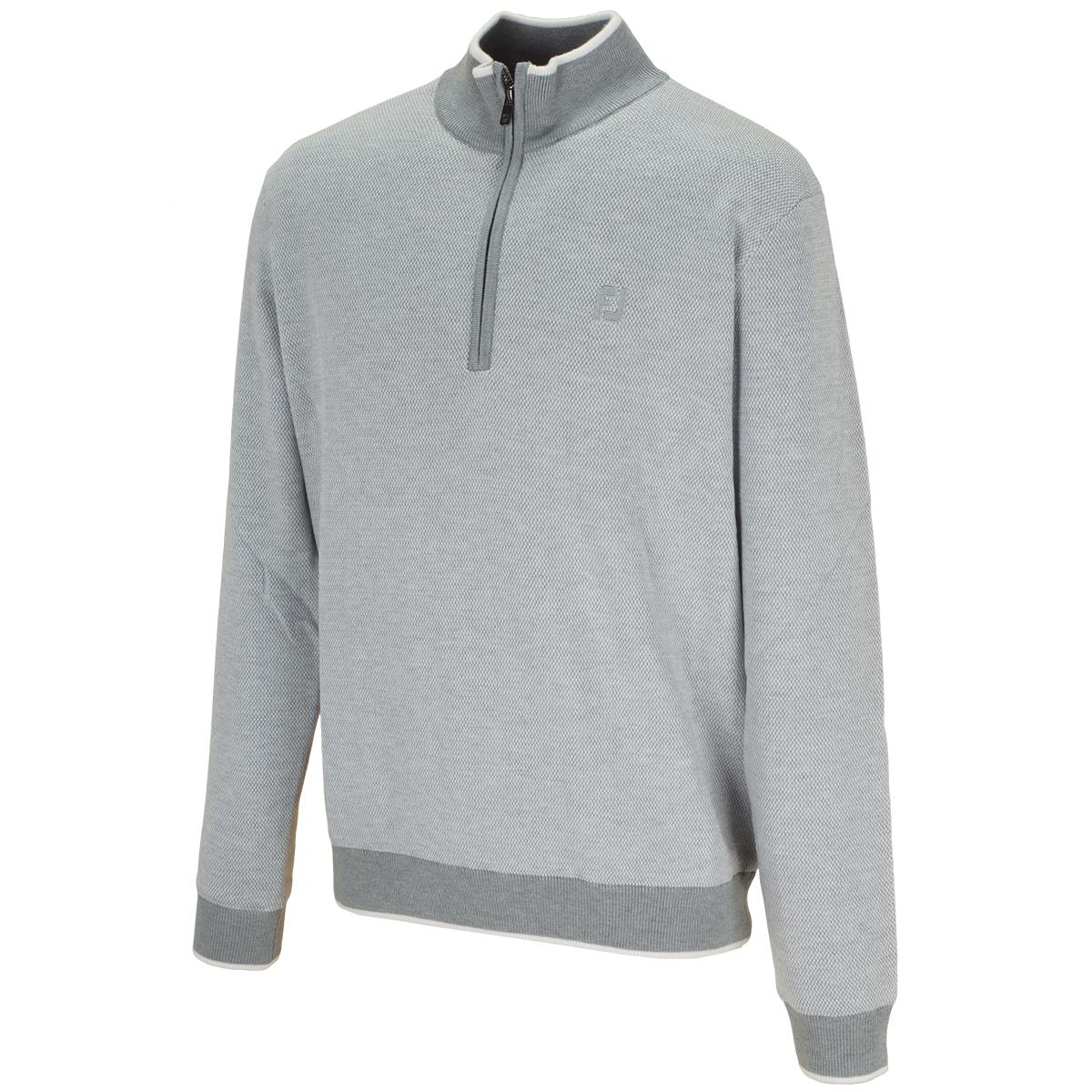 防風ハーフジップセーター