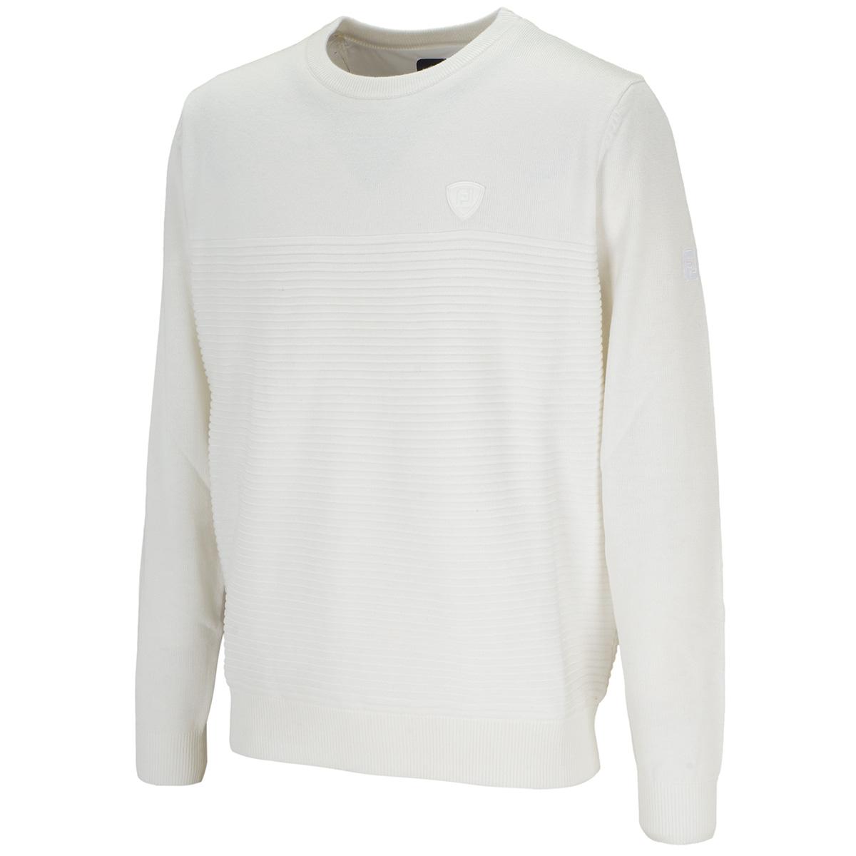防風クルーネックセーター