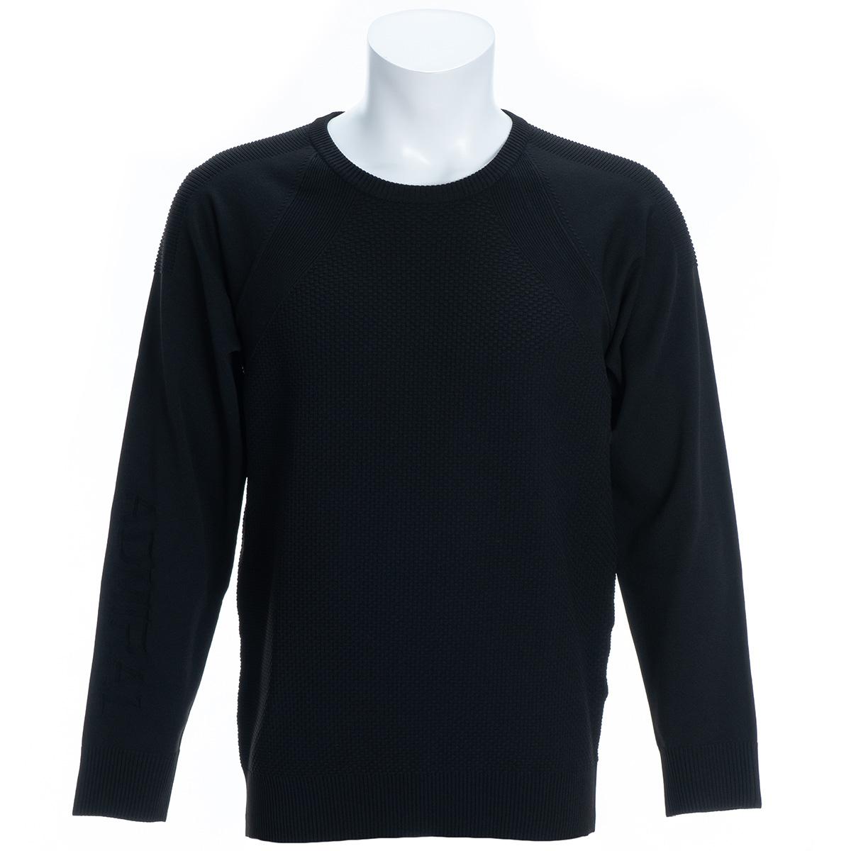 サーマル ストレッチ クルーネックセーター