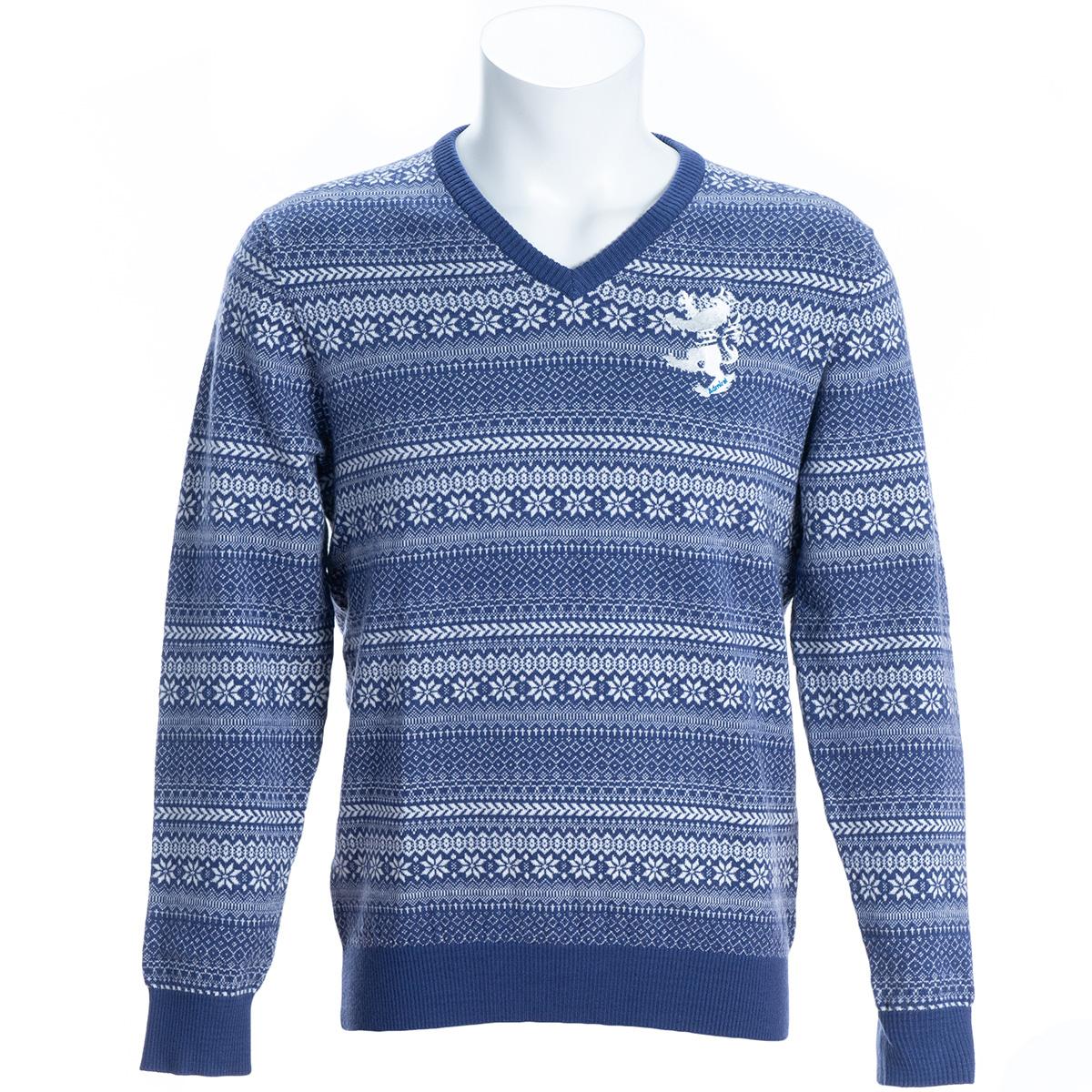 ストレッチ フェアアイル Vネックセーター