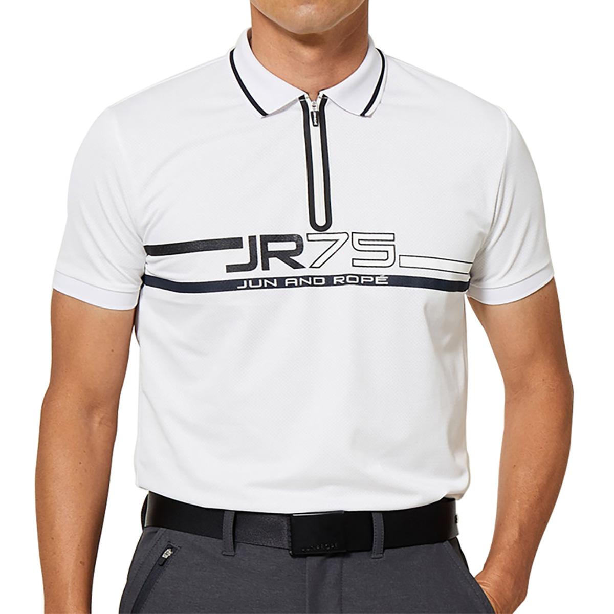 75ロゴプリント半袖ポロシャツ