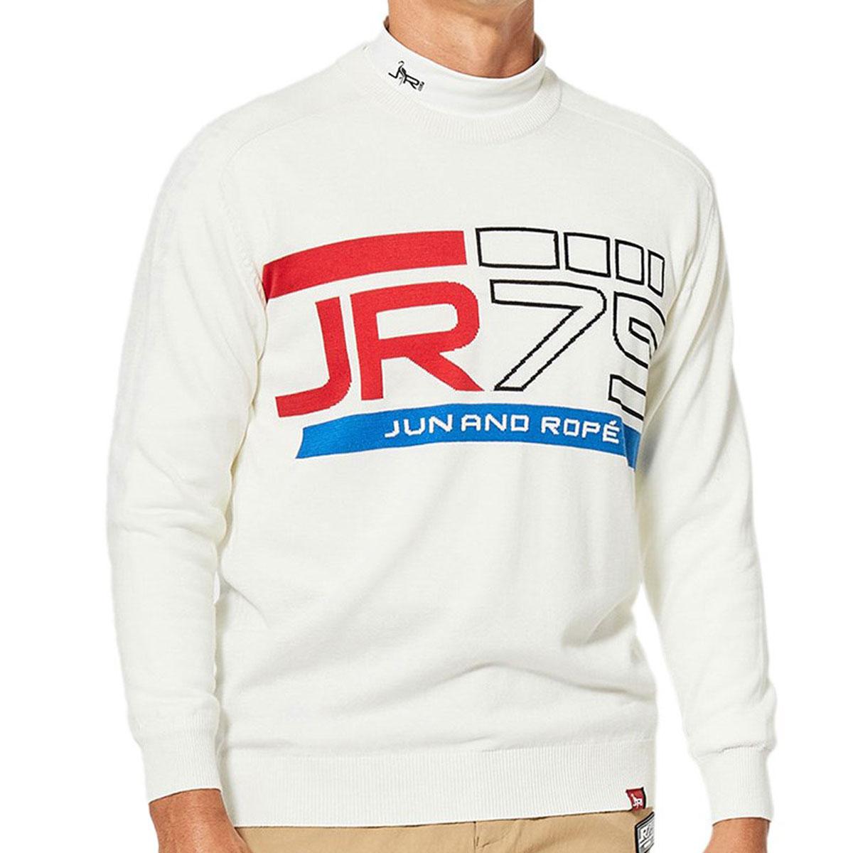 75ロゴインターシャ セーター