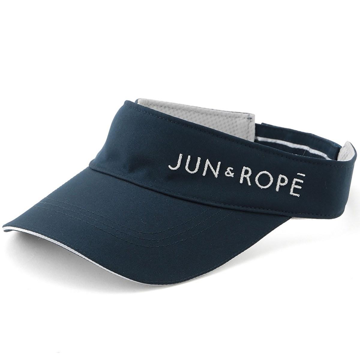 ジュン アンド ロペ JUN & ROPE ロゴ入りサンバイザー フリー ネイビー 40 レディス