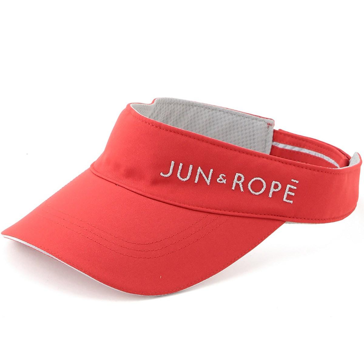 ジュン アンド ロペ JUN & ROPE ロゴ入りサンバイザー フリー レッド 60 レディス