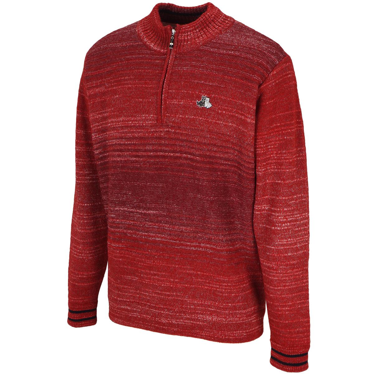 ハーフジップセーター