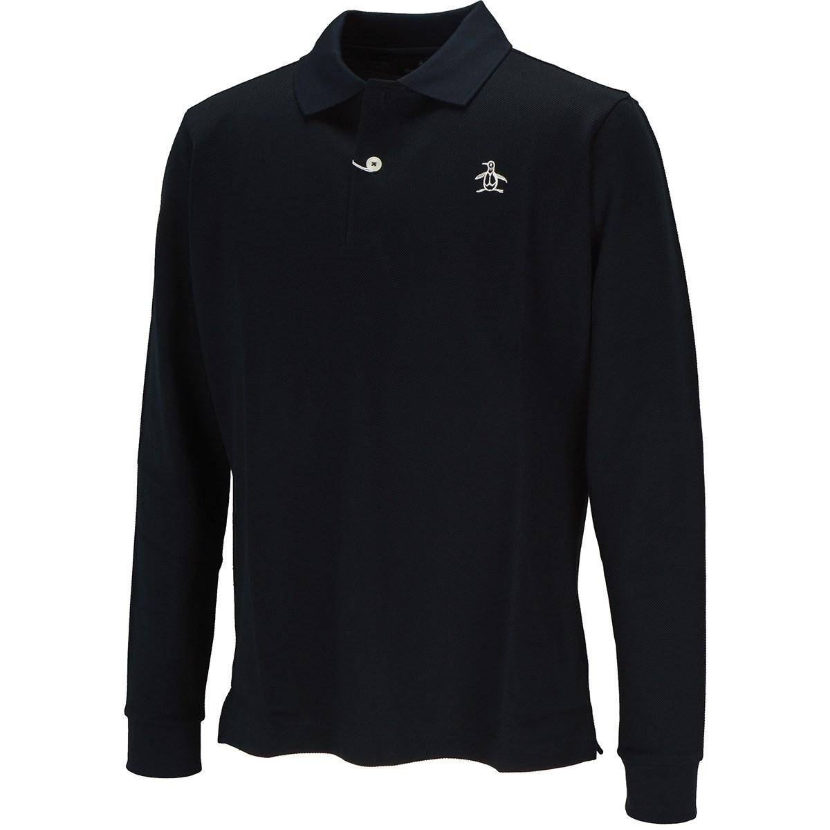 マンシングウェア Munsingwear ONE THING マナードリトルピート 長袖ポロシャツ M ネイビー 00
