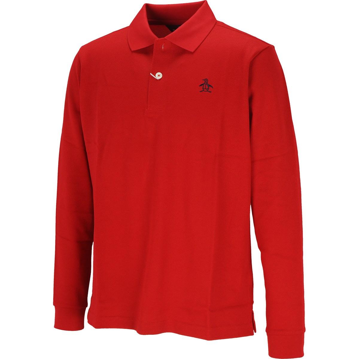 マンシングウェア Munsingwear ONE THING マナードリトルピート 長袖ポロシャツ M レッド 00