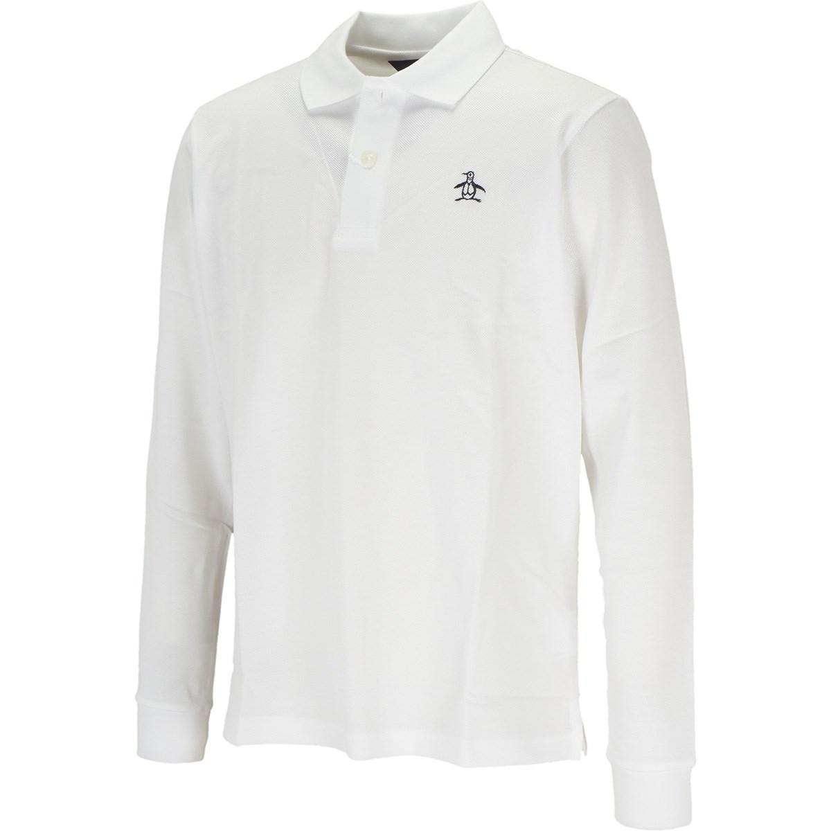 マンシングウェア Munsingwear ONE THING マナードリトルピート 長袖ポロシャツ M ホワイト 00