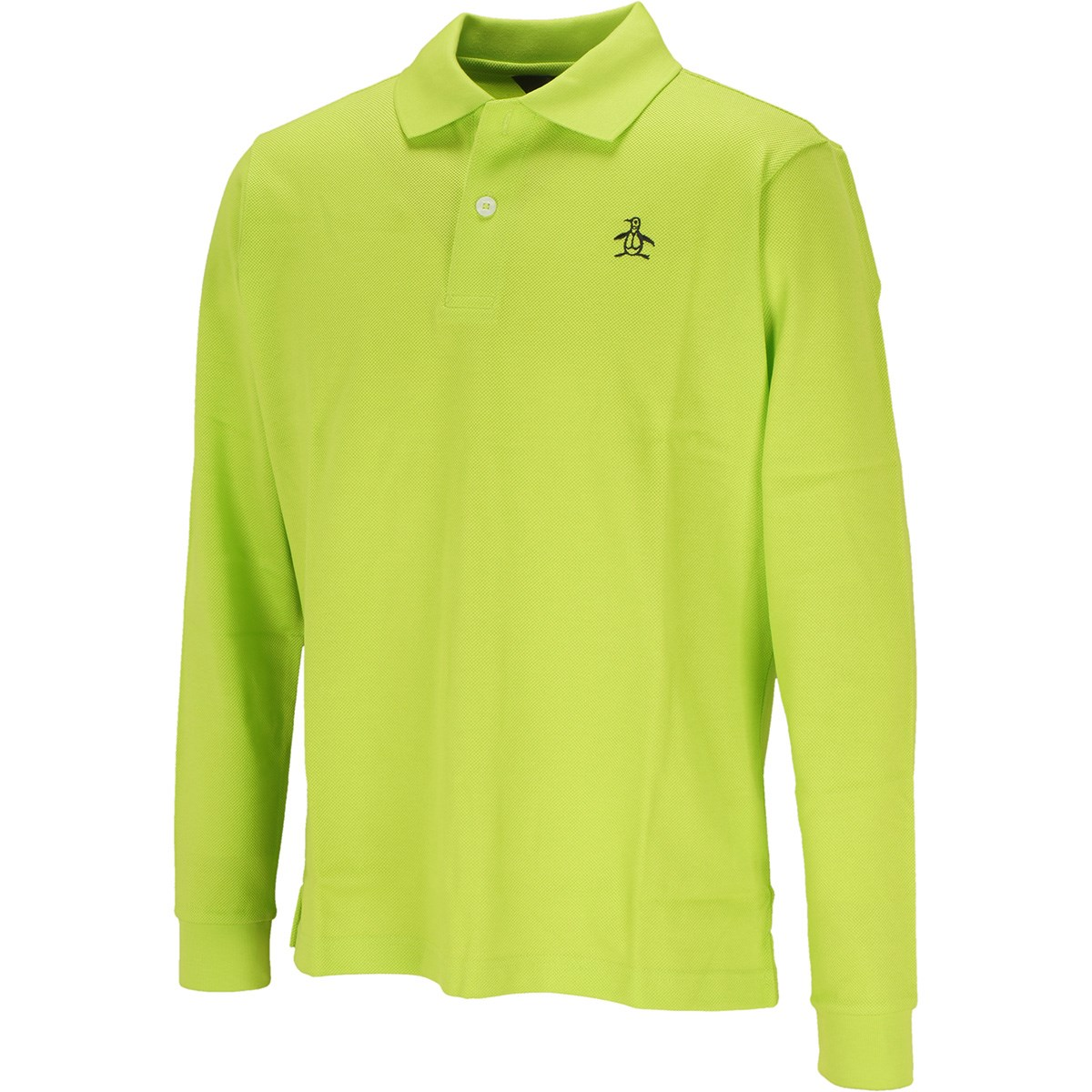 マンシングウェア Munsingwear ONE THING マナードリトルピート 長袖ポロシャツ M ライム 00