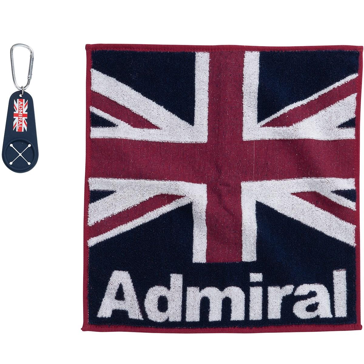 アドミラル Admiral ゴルフタオル(小) ホルダー付き トリコロール