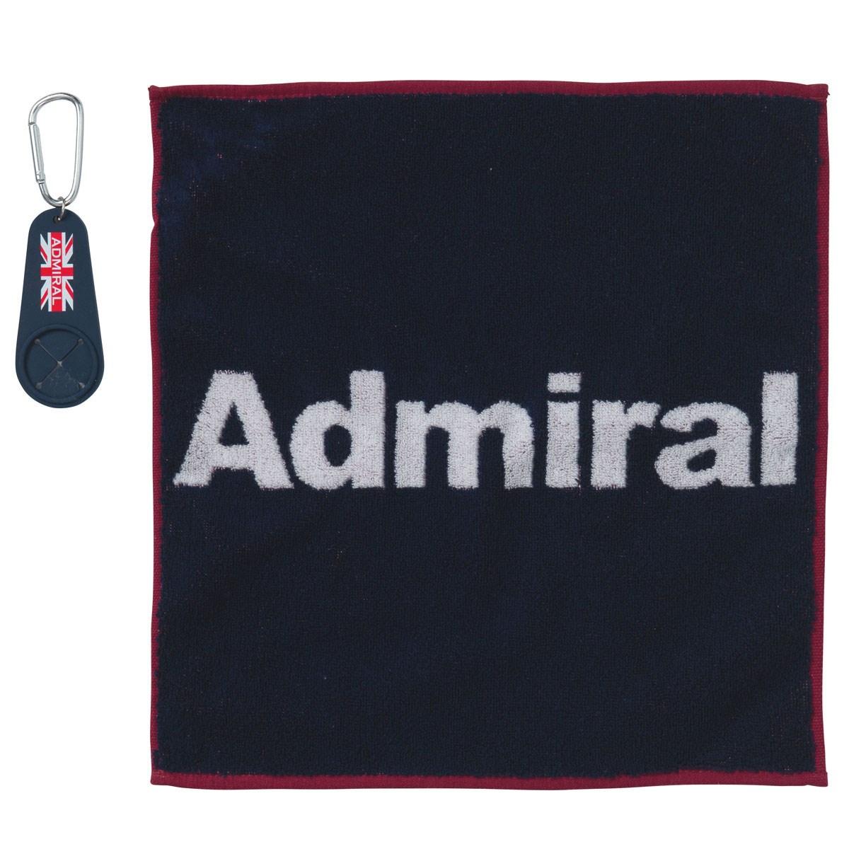アドミラル Admiral ゴルフタオル(小) ホルダー付き ネイビー