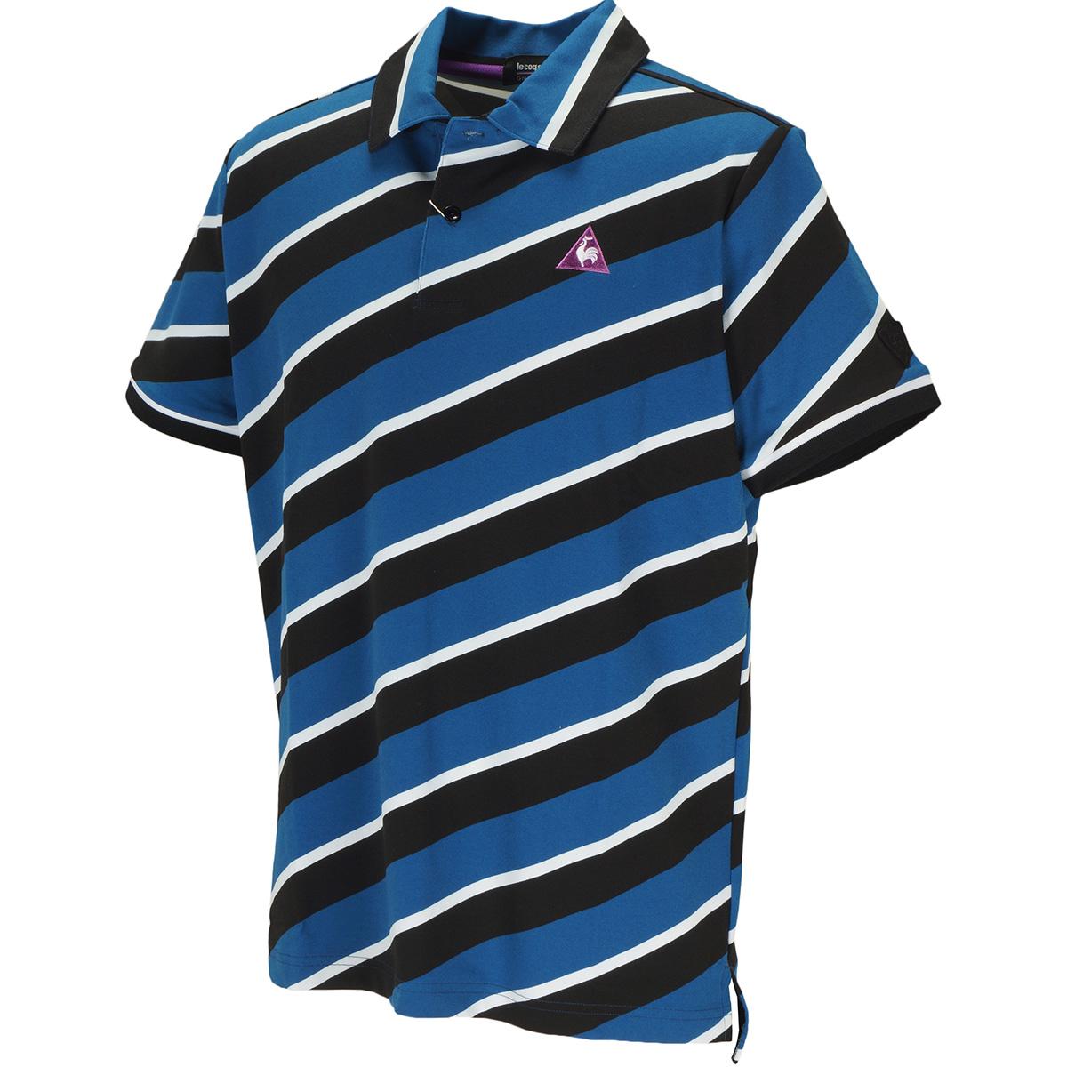 レジメンタルプリント 半袖ストライプポロシャツ