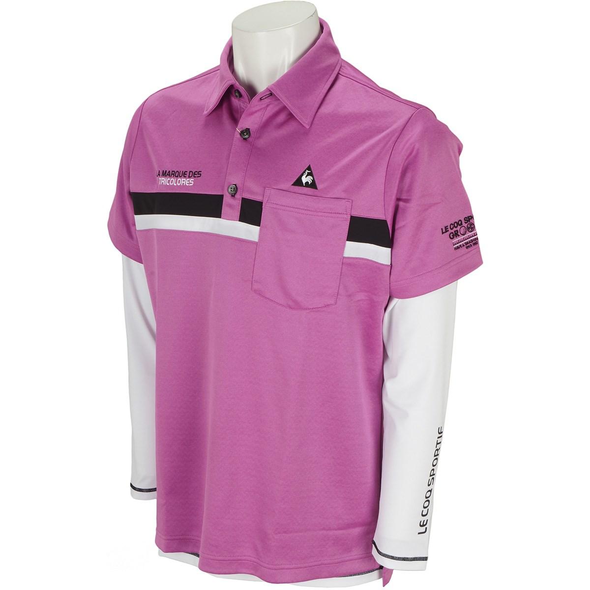 ルコックゴルフ 3WAY 裏ジグザグニット 半袖ポロシャツ
