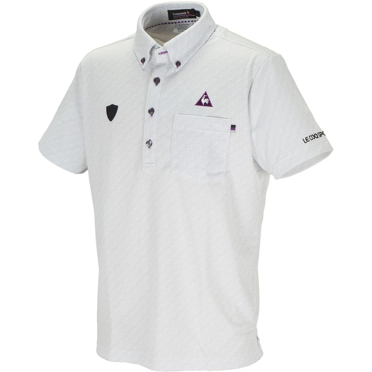ルコックゴルフ カセットバイヤスプリント 半袖ポロシャツ