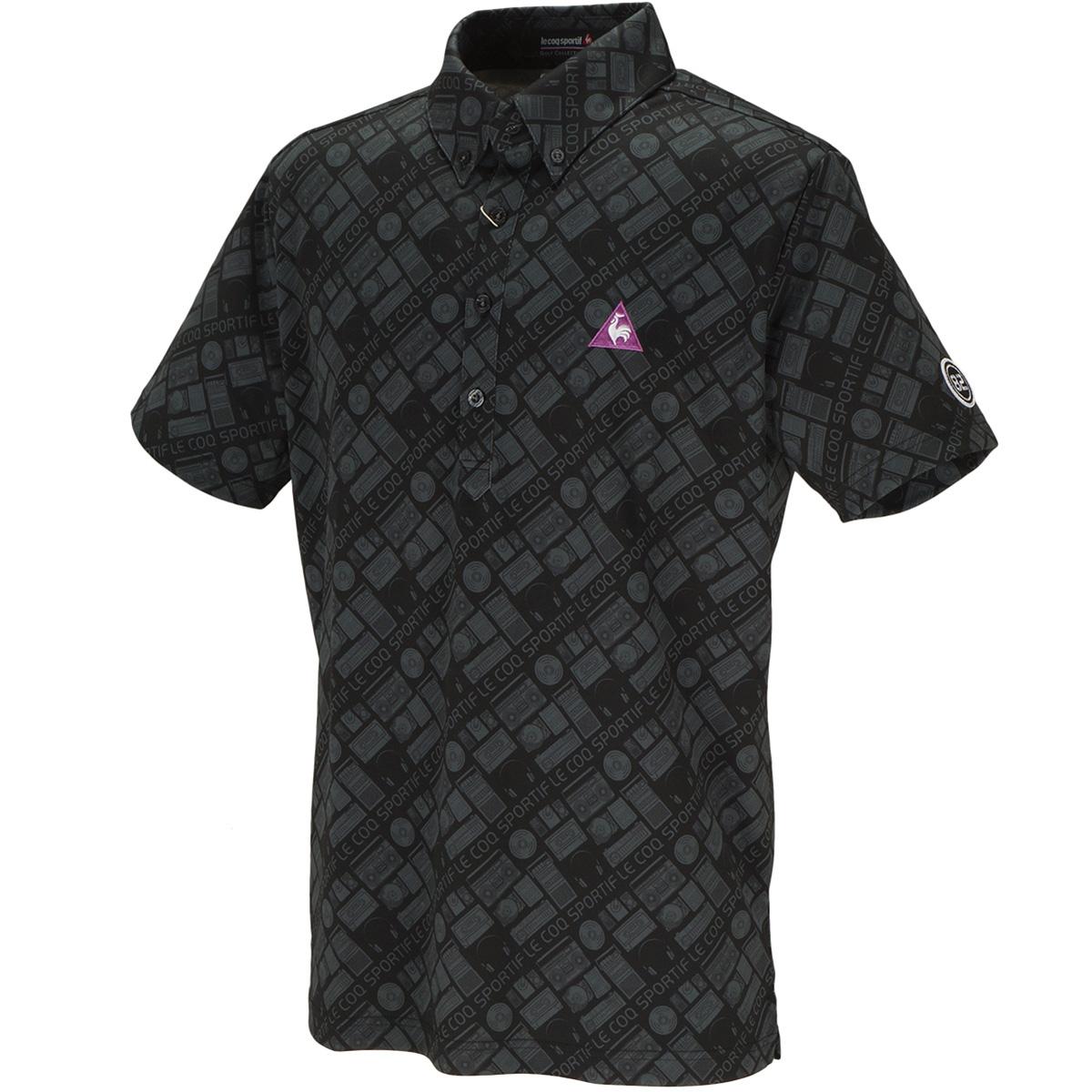 ファンキーアイコンプリント 半袖ポロシャツ