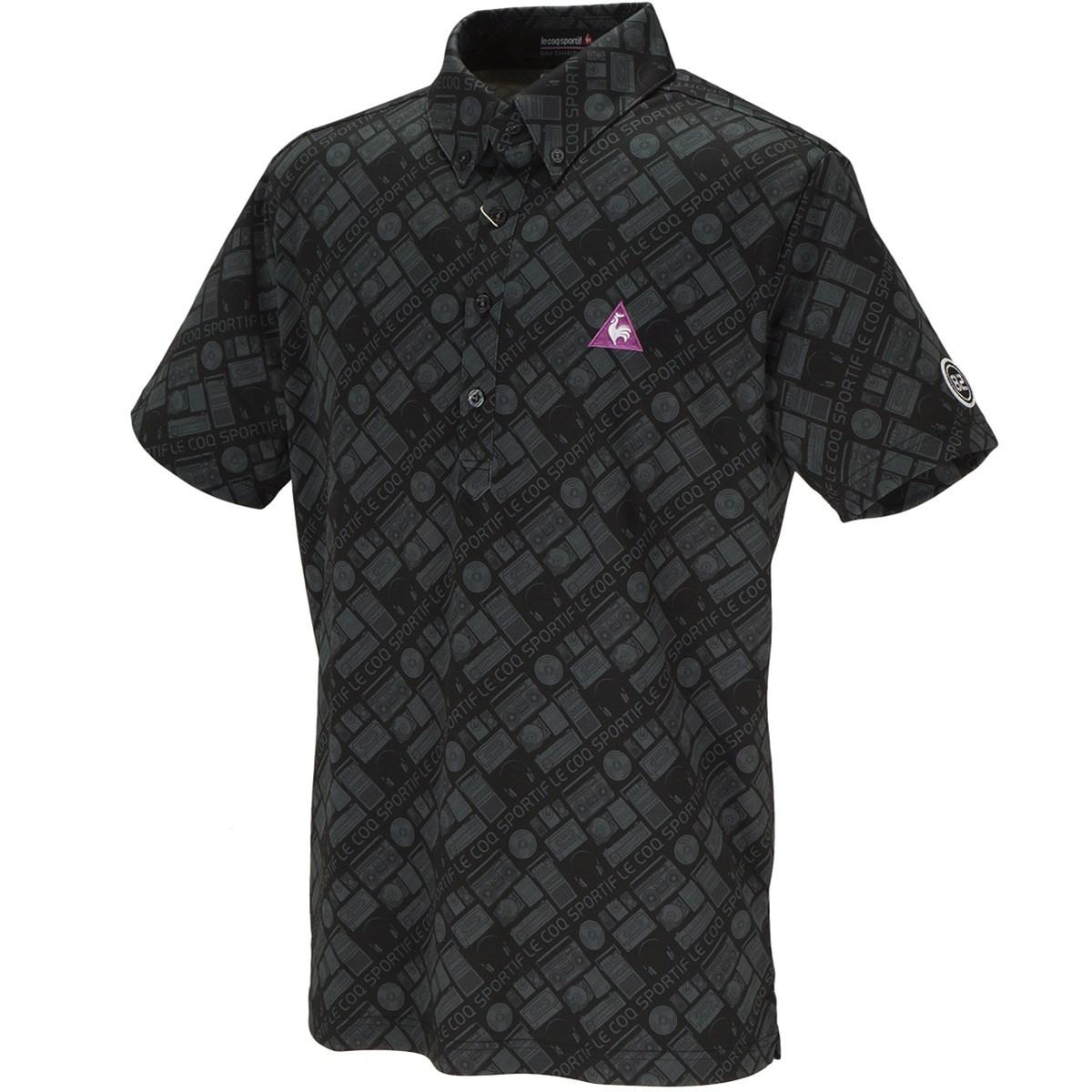 ルコックゴルフ ファンキーアイコンプリント 半袖ポロシャツ