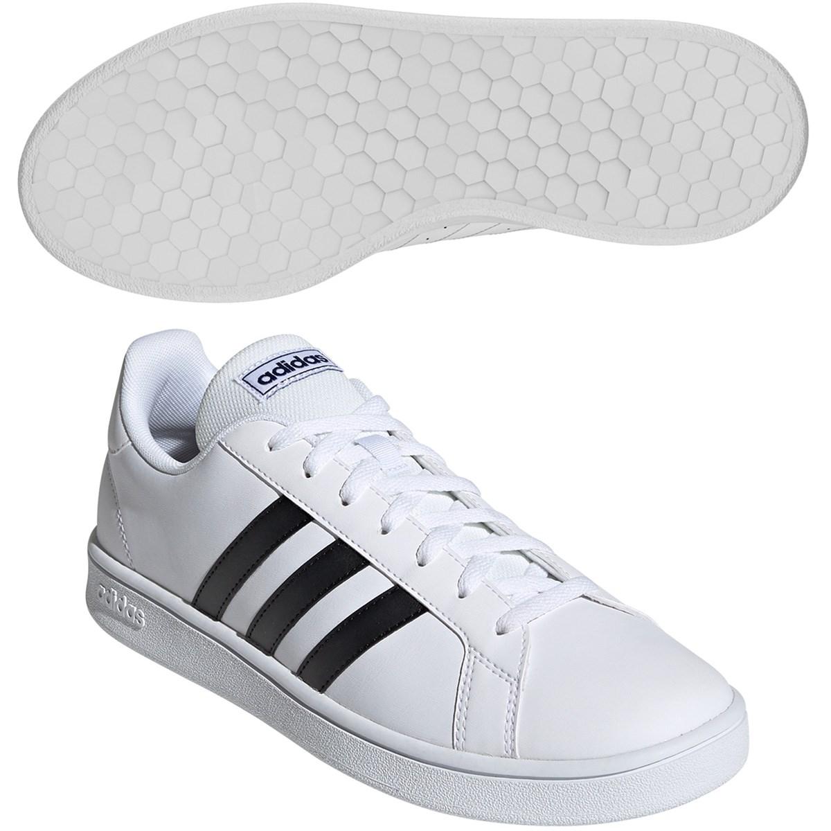 アディダス Adidas GRANDCOURT BASE シューズ 27cm ランニングホワイト/コアブラック/ダークブルー
