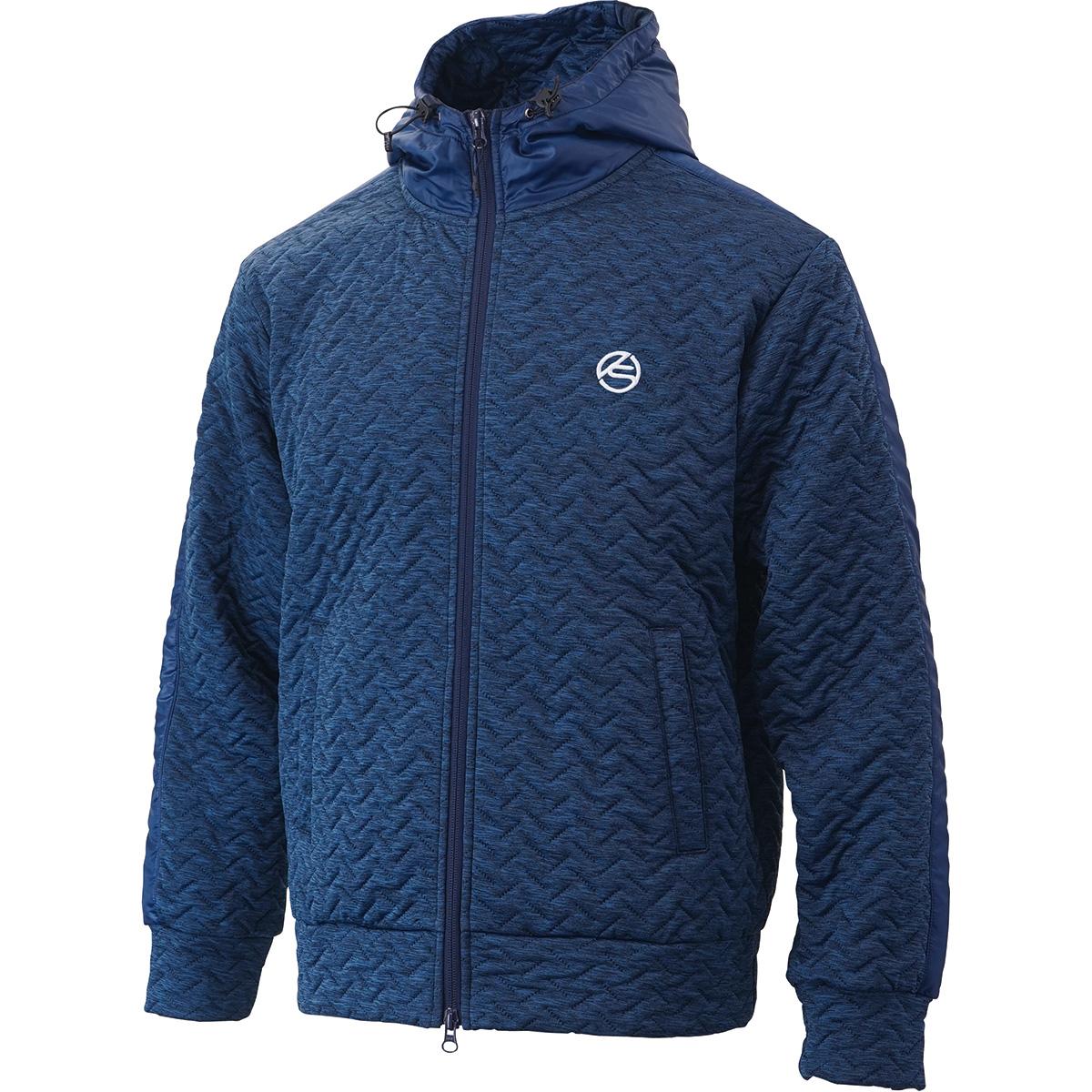 ストレッチ 4層中綿フード付きジャケット