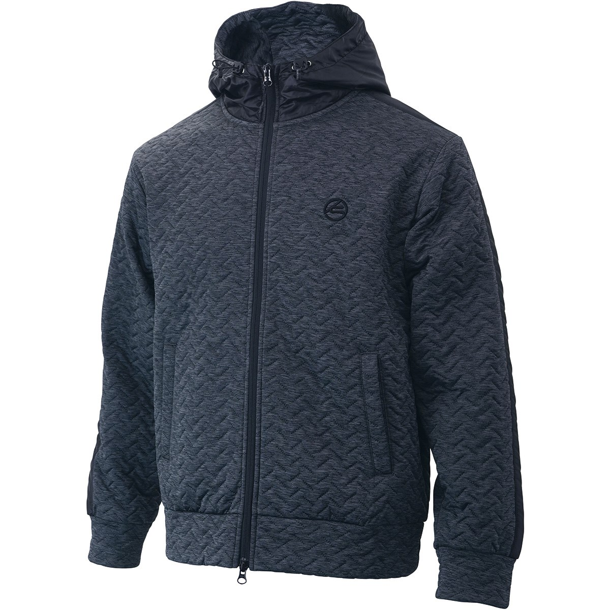 キャスコ KASCO ストレッチ 4層中綿フード付きジャケット L 杢チャコール