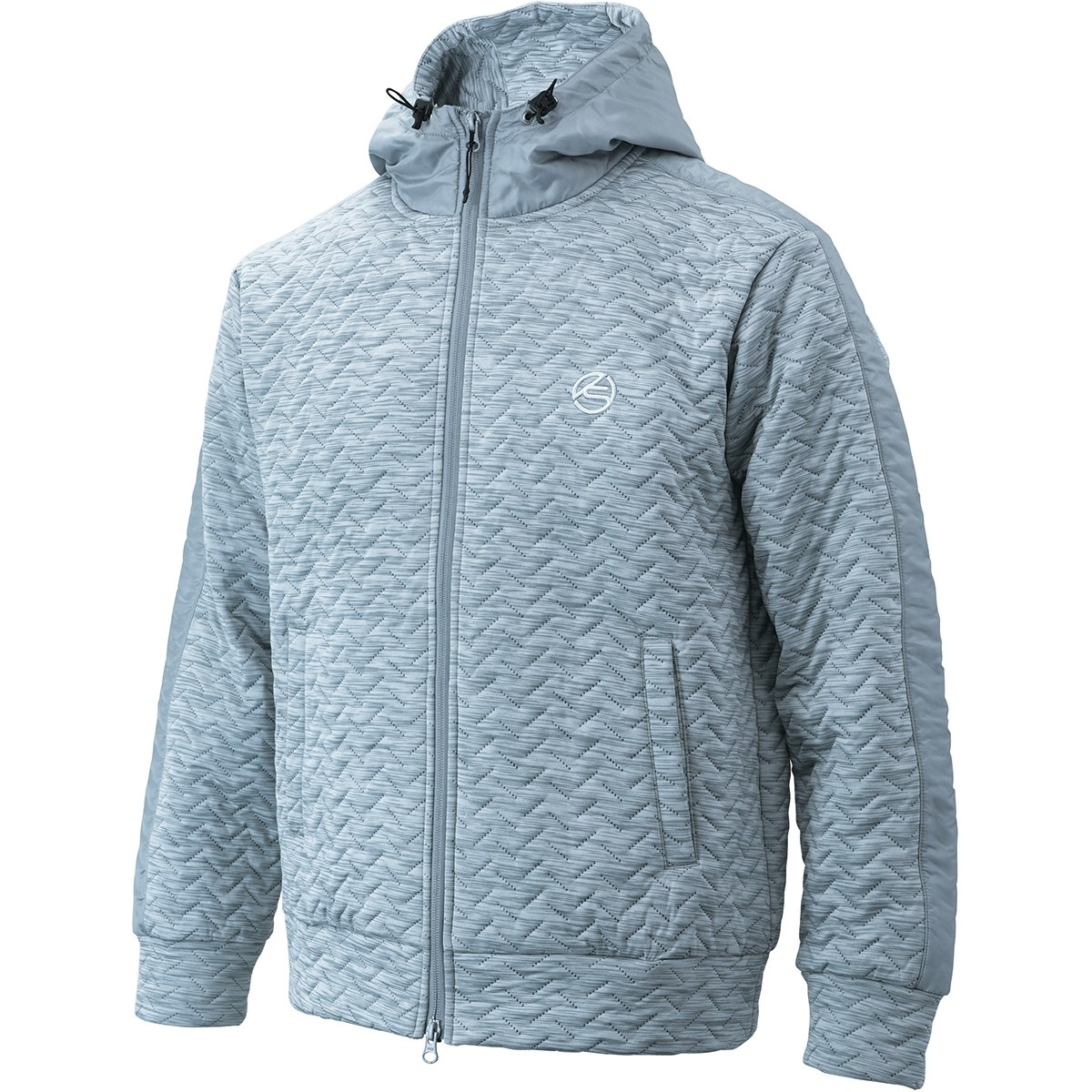 キャスコ KASCO ストレッチ 4層中綿フード付きジャケット M 杢グレー