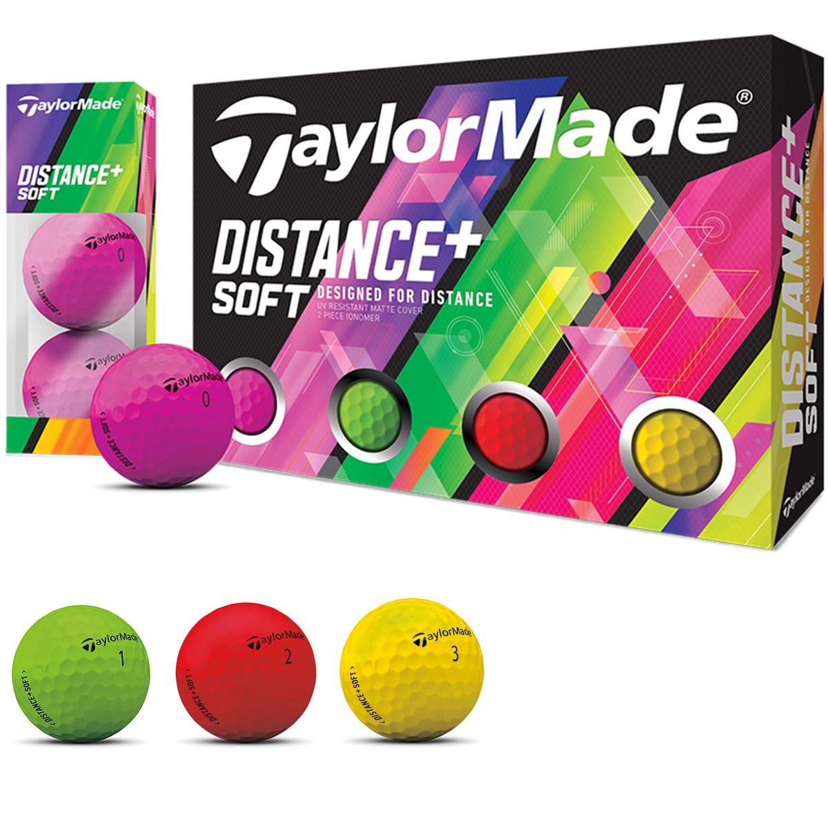 テーラーメイド Distance+ ソフト マルチカラーボール(1スリーブ)