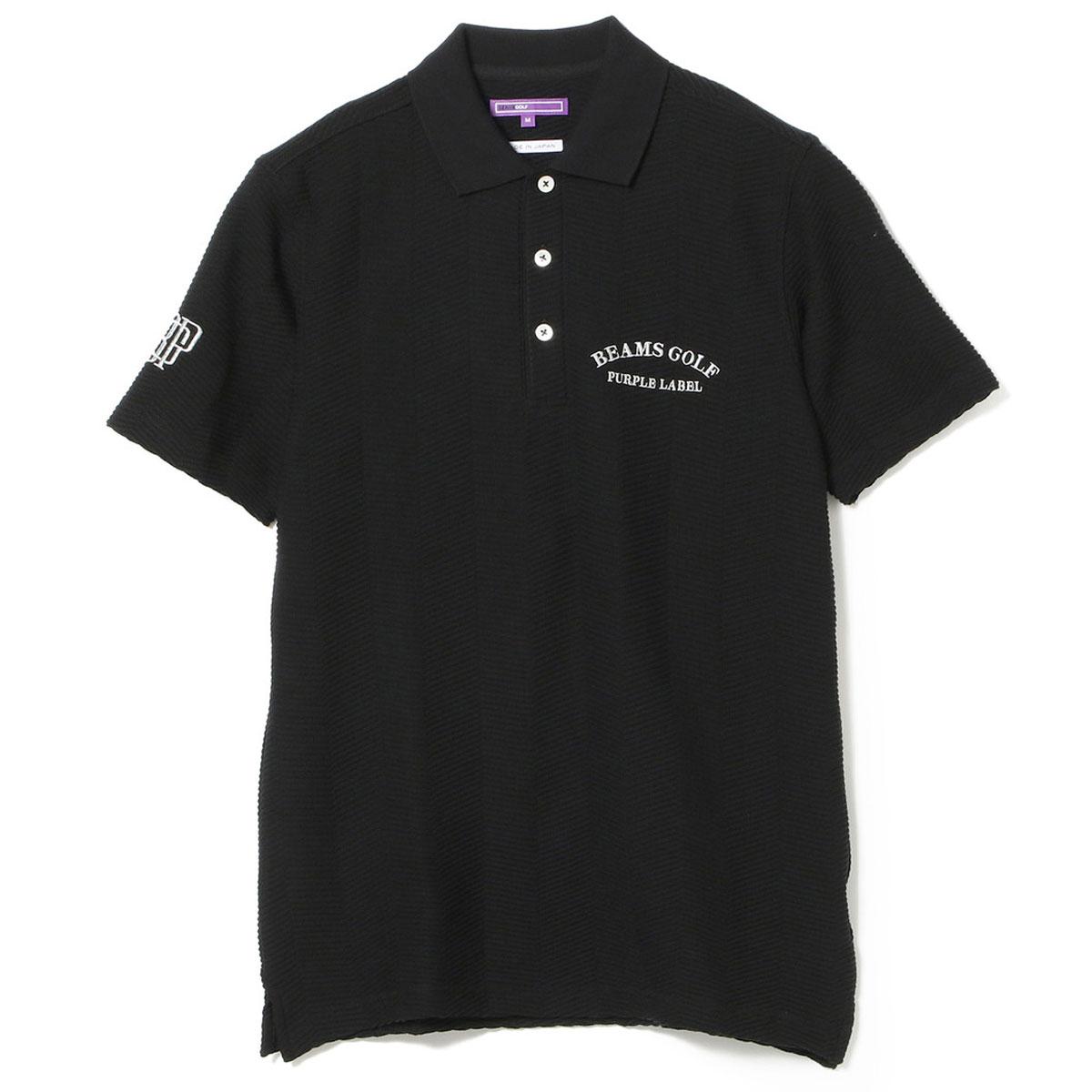 BEAMS GOLF PURPLE LABEL リンクス へリンボーン ポロシャツ