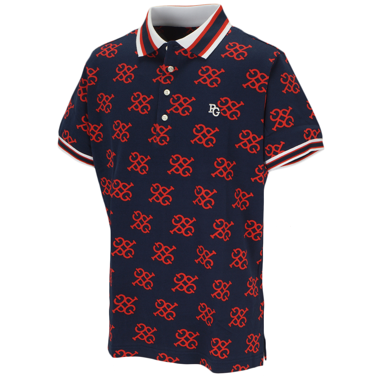 スーピマ鹿の子 モノグラム 半袖ポロシャツ