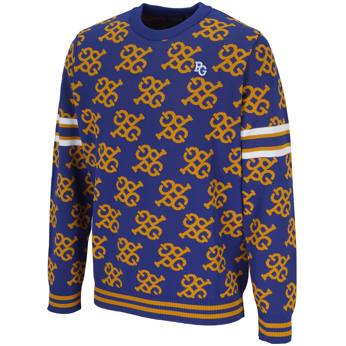 モノグラム 長袖セーター