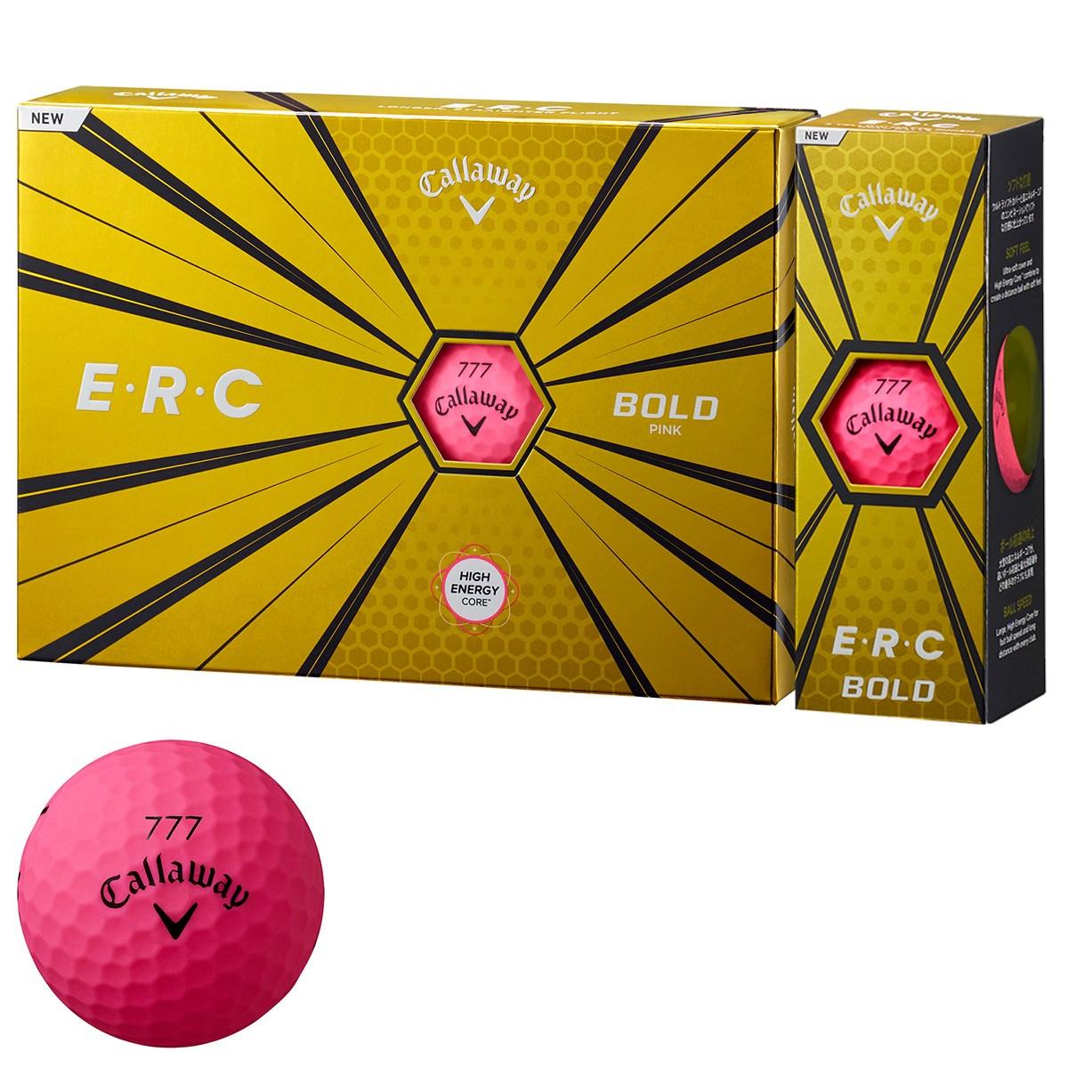 キャロウェイゴルフ E・R・C ERC 19 ボール 1ダース(12個入り) ボールドピンク