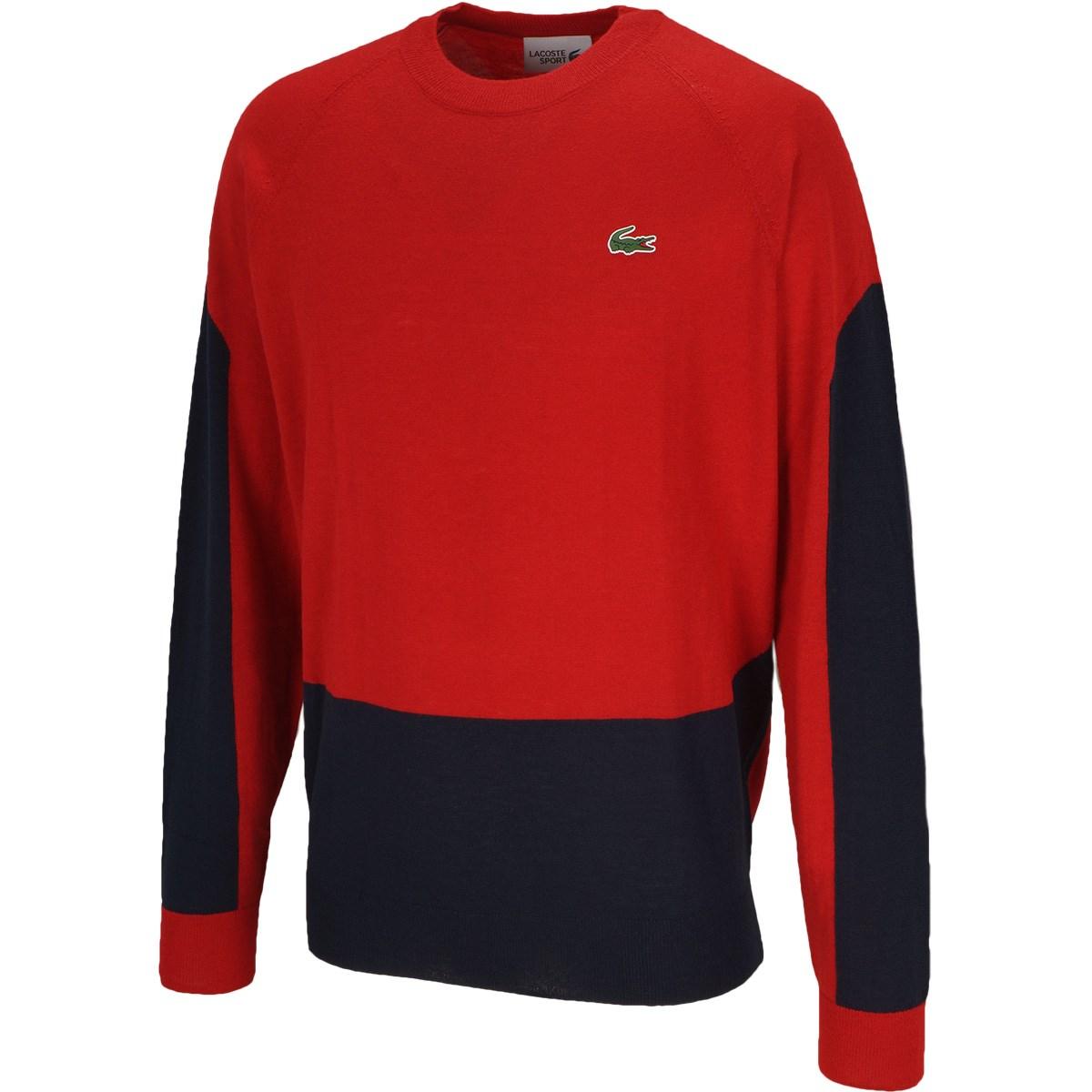 ラコステ カラーブロッキングゴルフセーター