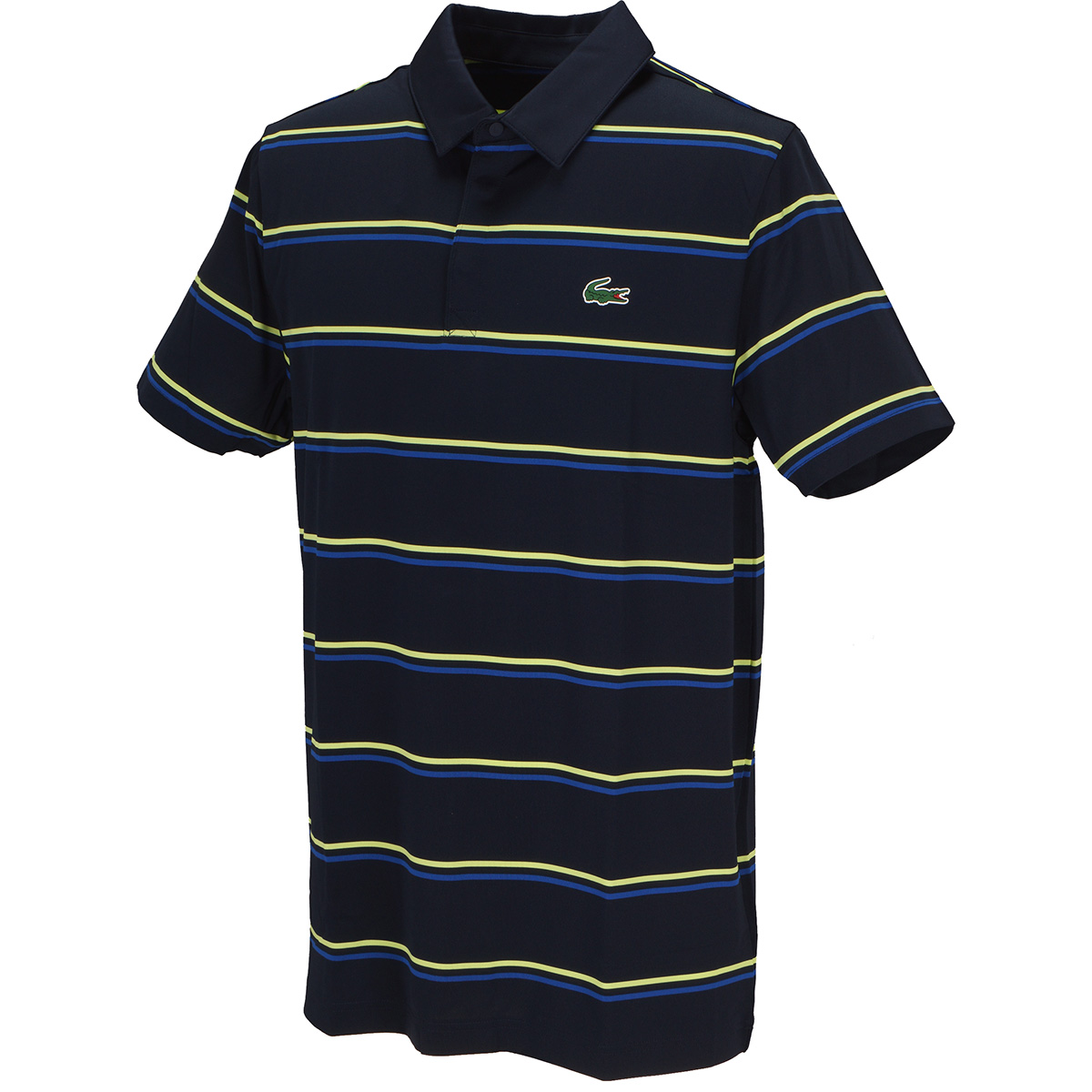 バイカラーボーダーゴルフ半袖ポロシャツ
