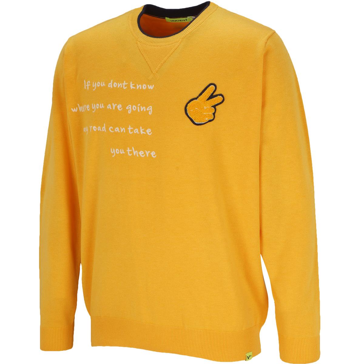 MONEY TREE ピースマーククルーネックセーター