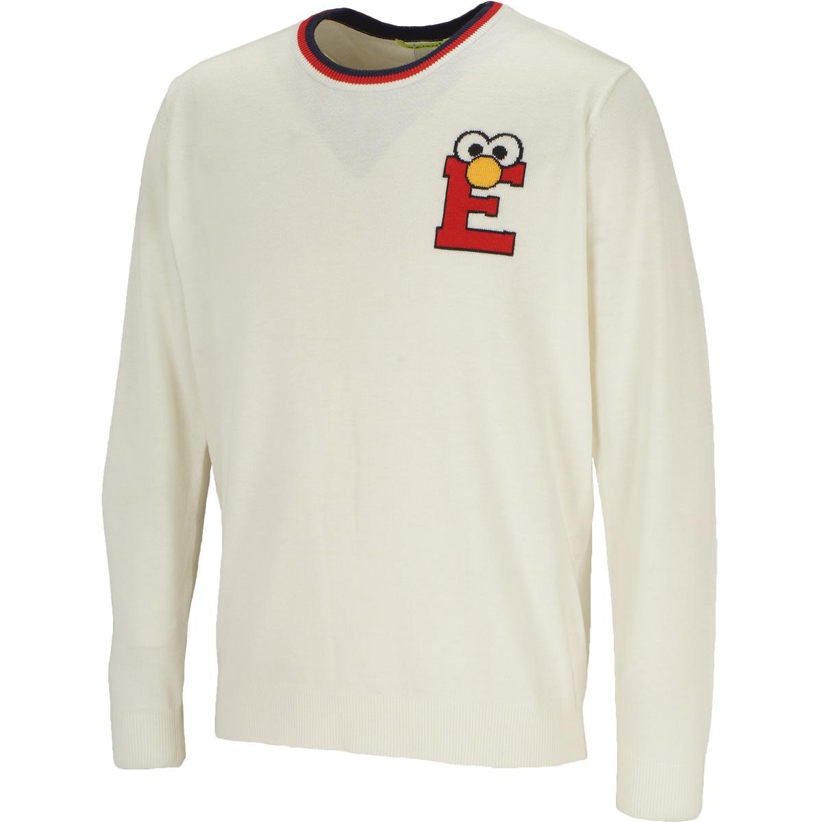 セサミ イニシャルクルーネックセーター
