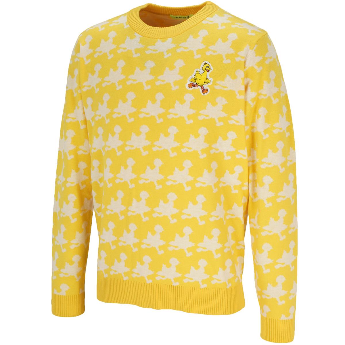 セサミ シルエットジャカードセーター
