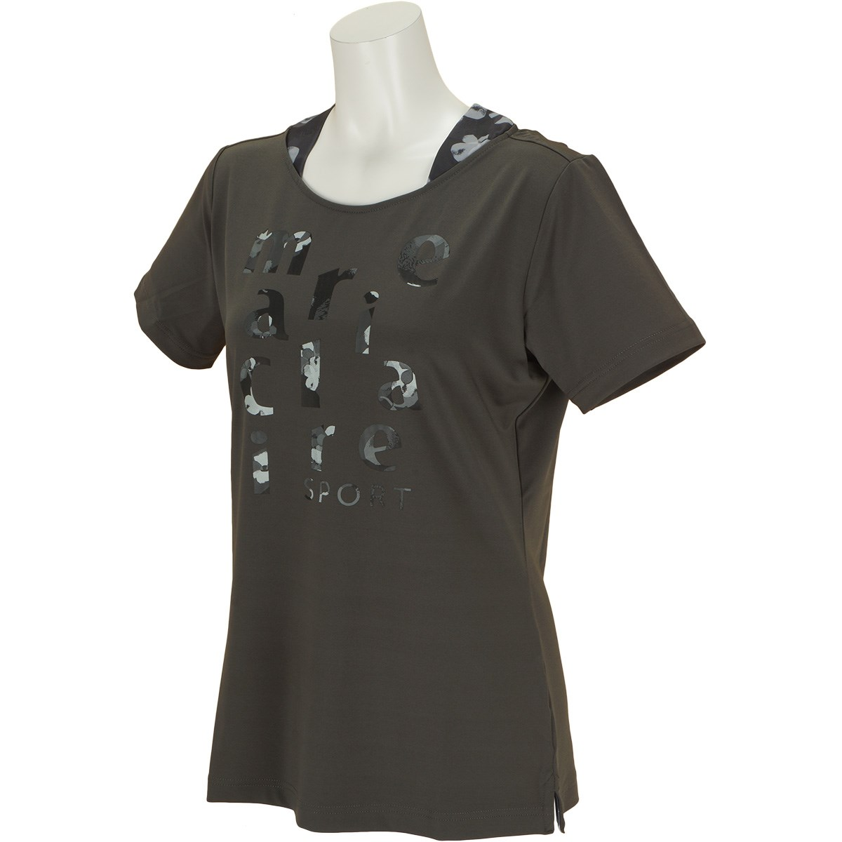 マリクレール marie claire 半袖Tシャツ M チャコールグレー レディス
