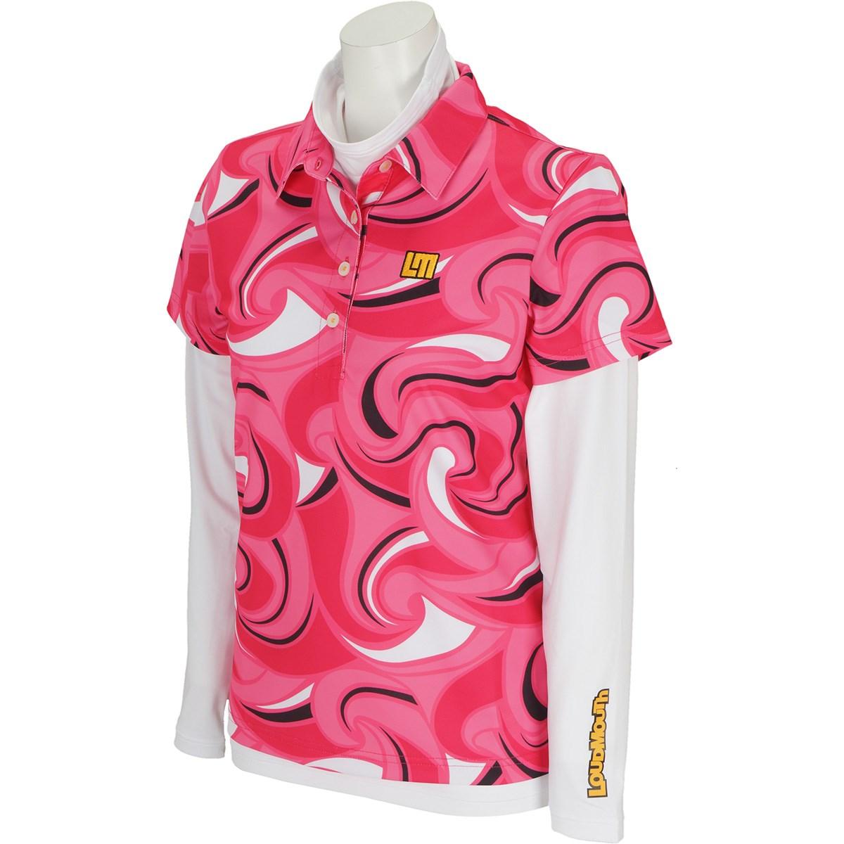 ラウドマウスゴルフ Loud Mouth Golf 長袖ハイネックインナーシャツ付き半袖ポロシャツ S ストロベリーショートゲーム 221 レディス