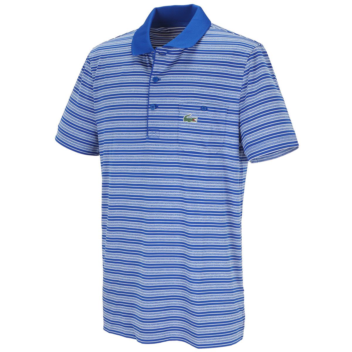 ボーダーパッチポケットゴルフ半袖ポロシャツ