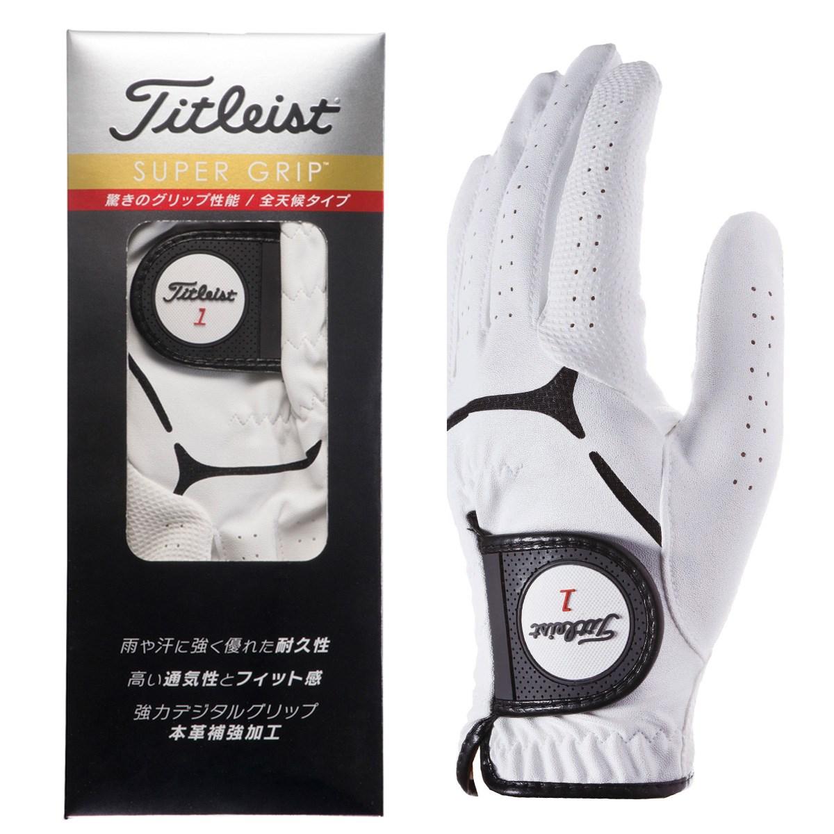 タイトリスト TITLEIST スーパーグリップ グローブ 24cm 左手着用(右利き用) ホワイト