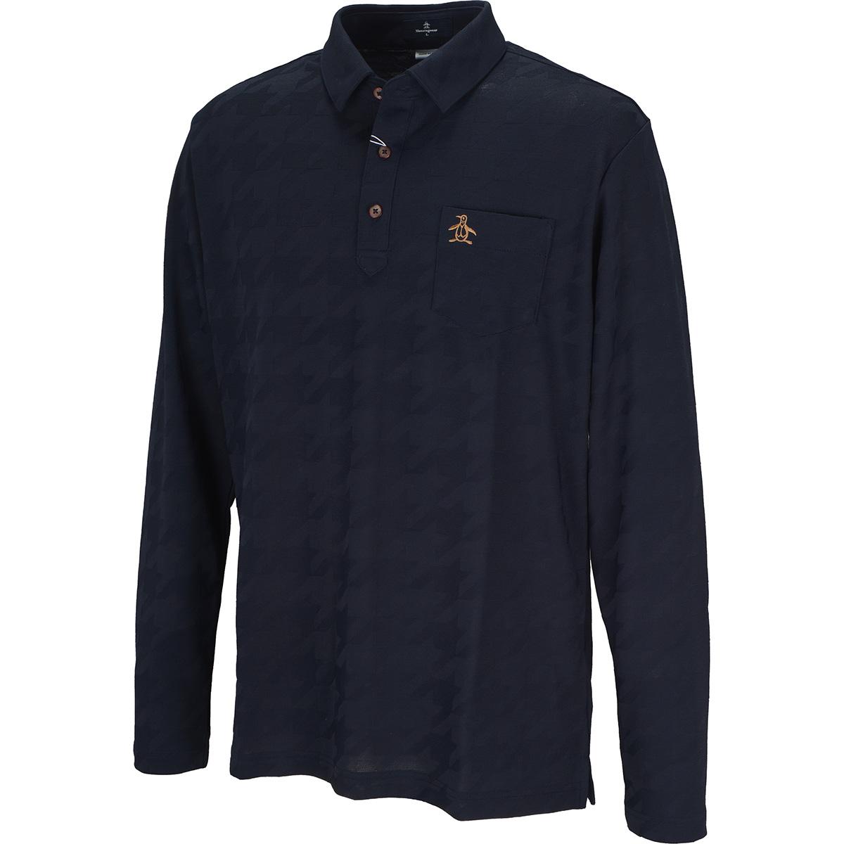 ONE THING フィラシス リンクスジャカード長袖ポロシャツ