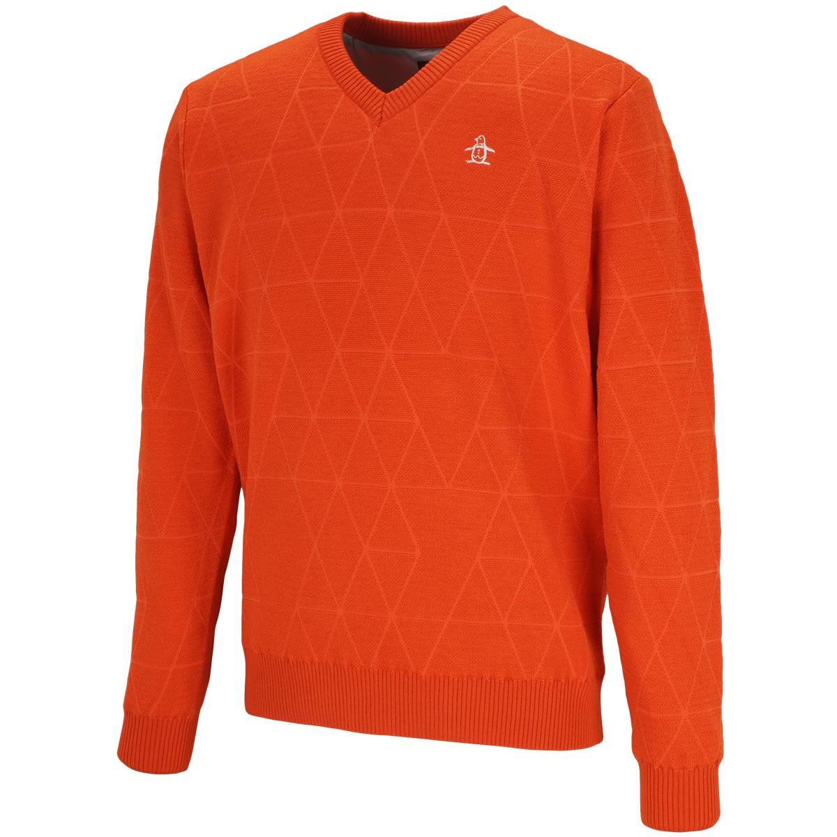 ダイヤヒートナビVネックセーター