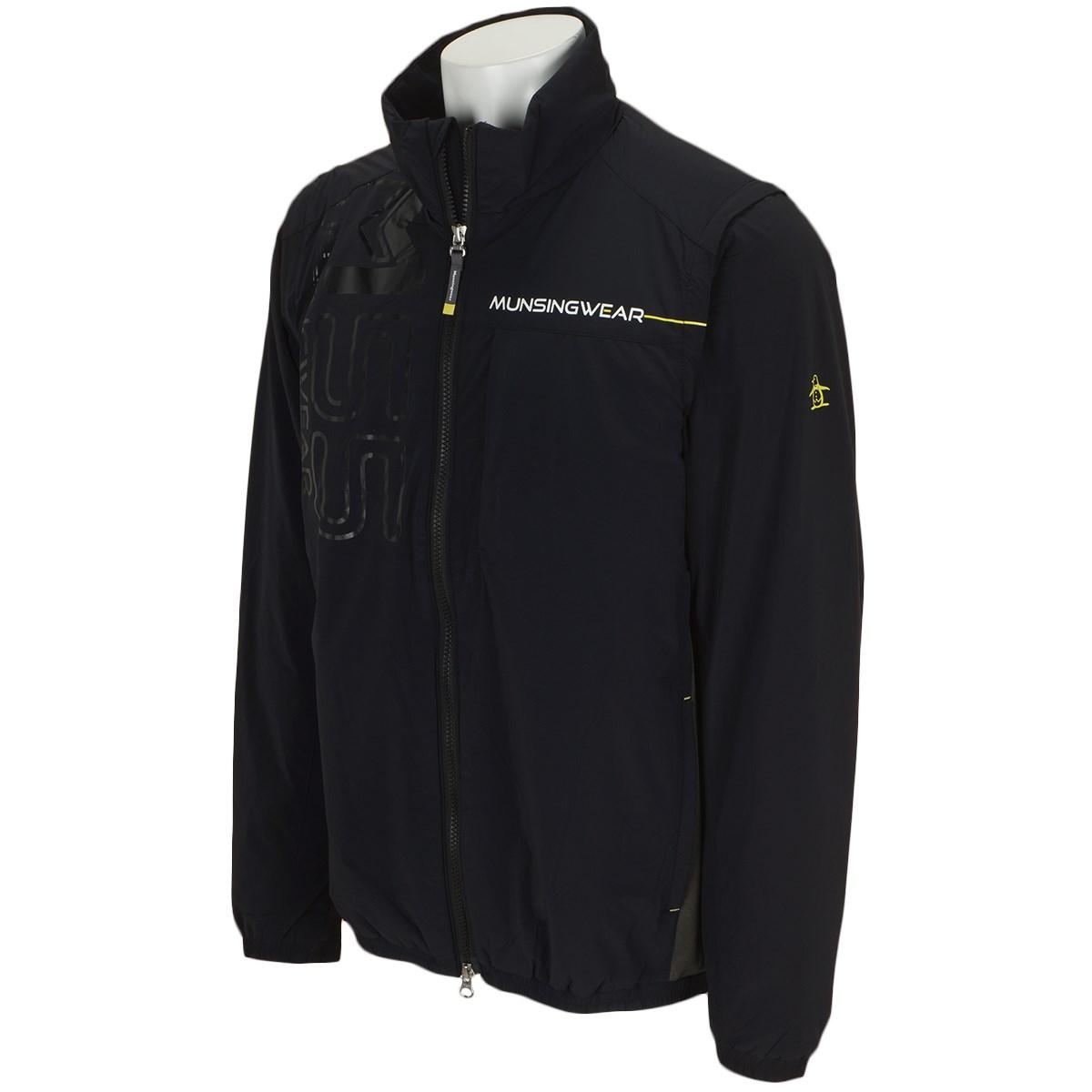 マンシングウェア Munsingwear ストレッチ 中綿ヒートナビ ブルゾン M ブラック 00