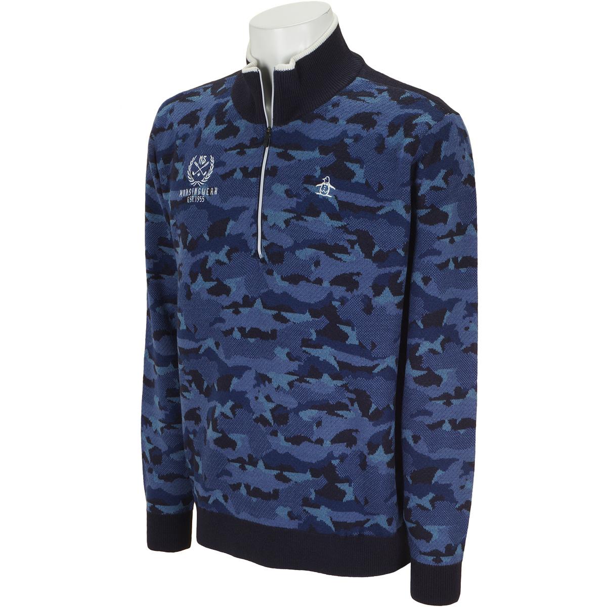 スターカモフラ 防風ハーフジップセーター