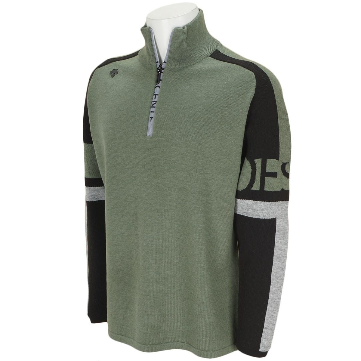 デサントゴルフ(DESCENTE GOLF) ウールポリエステルジャカードハーフジップセーター