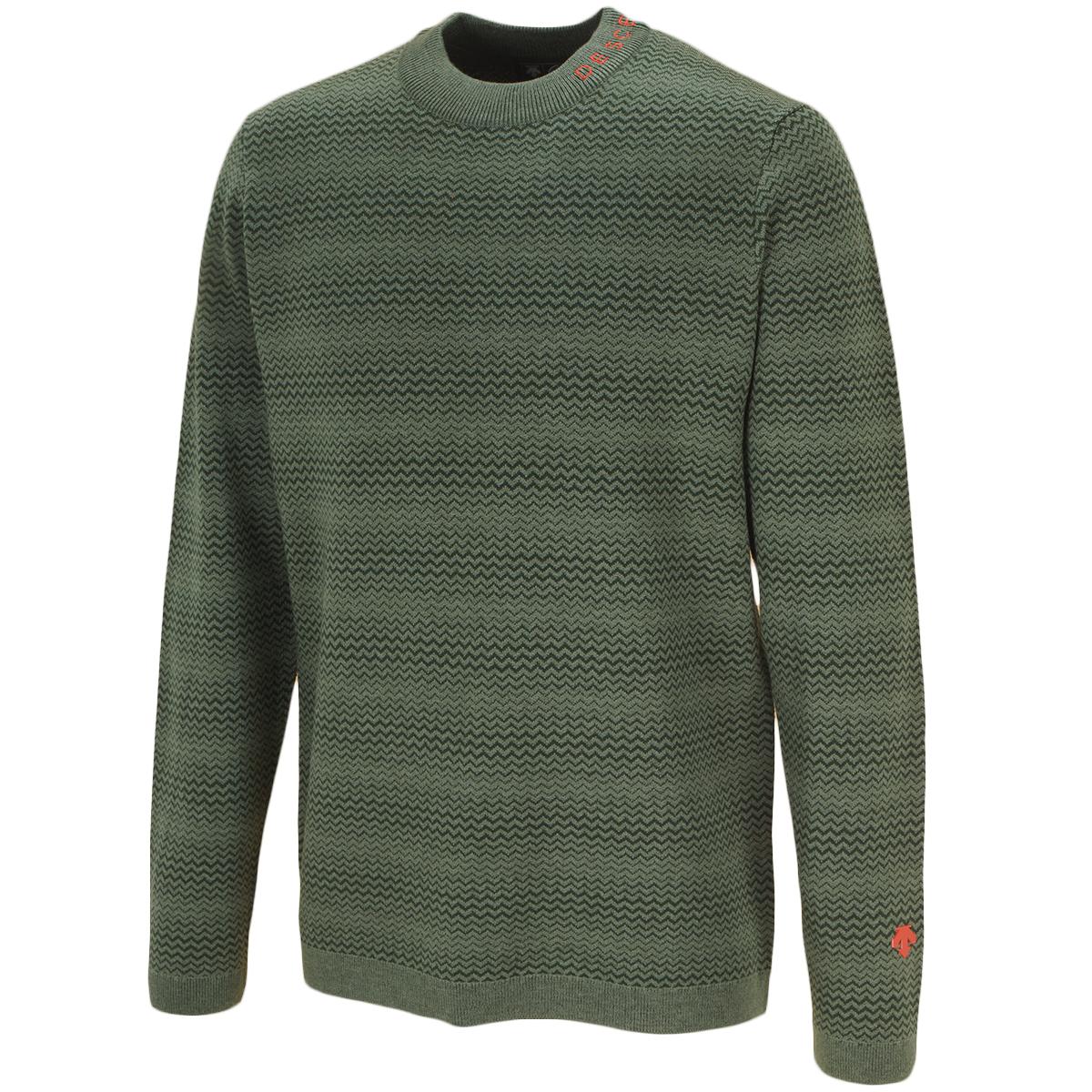 スピリットレイヤードウールジャカードセーター