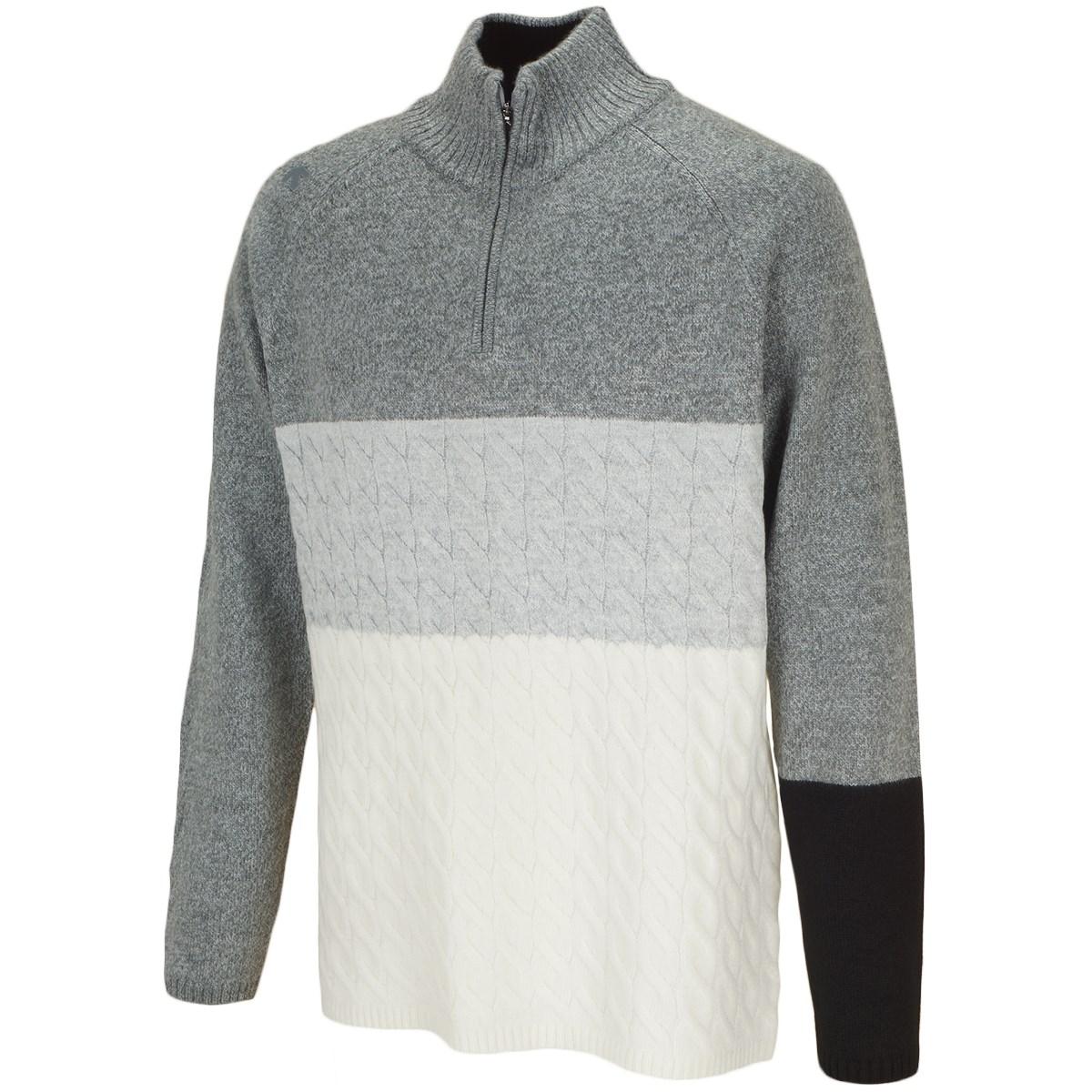 デサントゴルフ(DESCENTE GOLF) ウールポリエステルローゲージハーフジップセーター