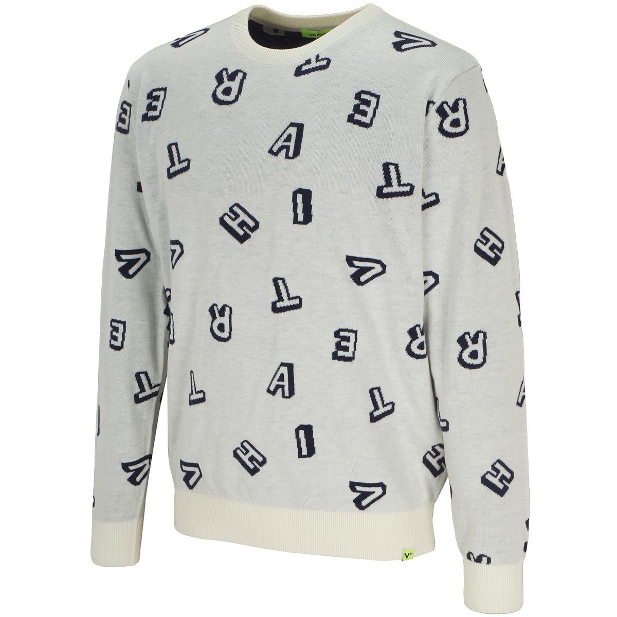 ランダムロゴクルーネックセーター