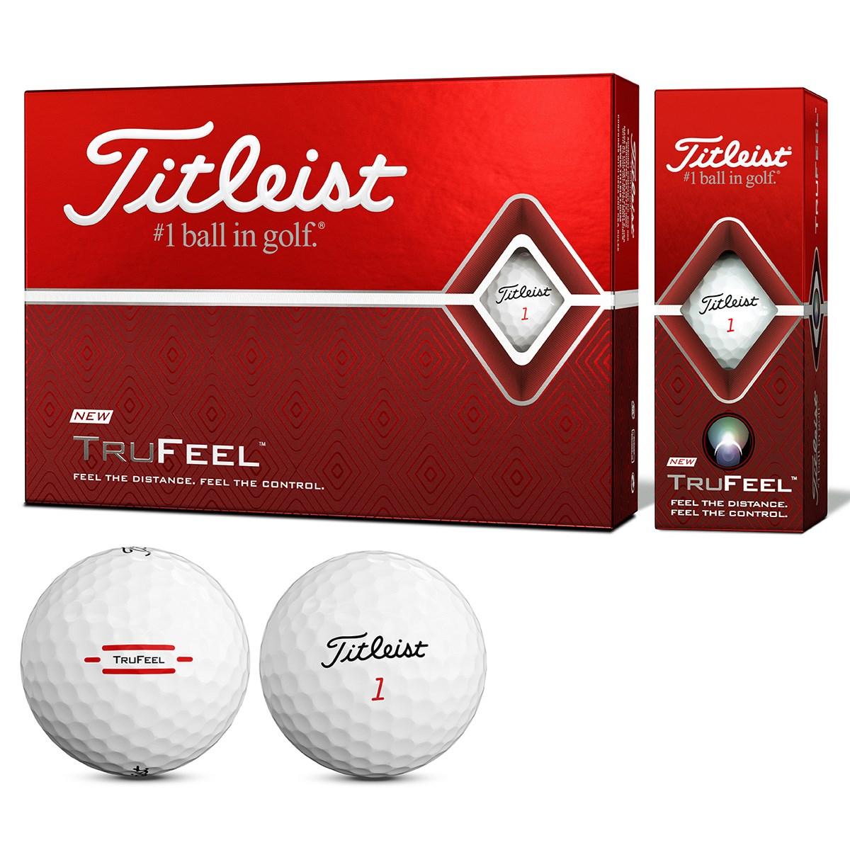 タイトリスト TITLEIST TRUFEEL ボール 1ダース(12個入り) ホワイト