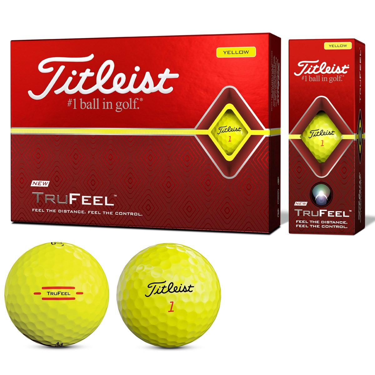 タイトリスト TITLEIST TRUFEEL ボール 1ダース(12個入り) イエロー