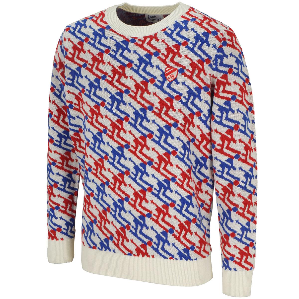 袋ジャガードセーター